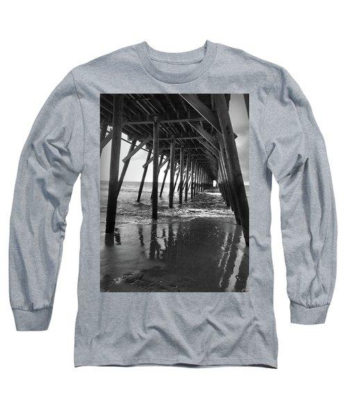 Under The Pier At Myrtle Beach Long Sleeve T-Shirt