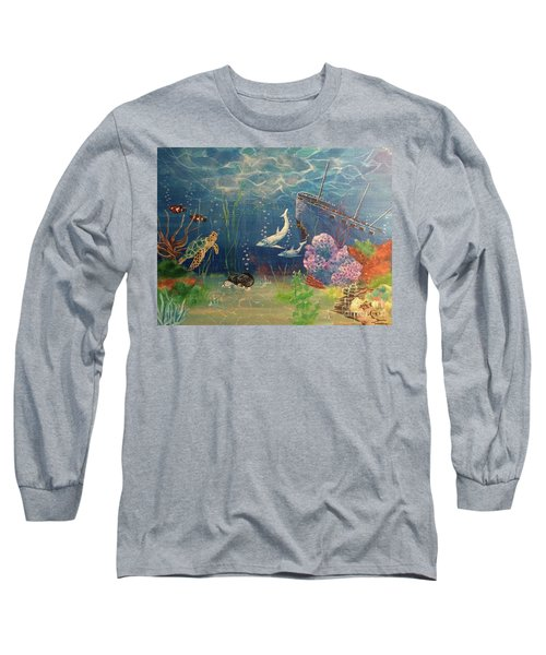 Under The Sea Long Sleeve T-Shirt by Denise Tomasura