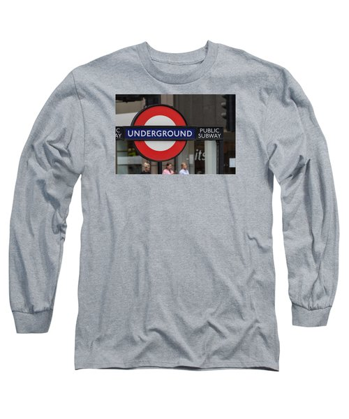 Underground Sign London Long Sleeve T-Shirt