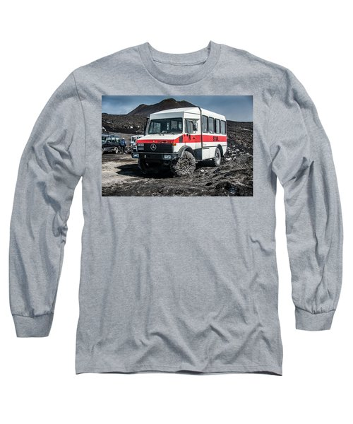 Unimog On Mt. Etna Long Sleeve T-Shirt by Patrick Boening