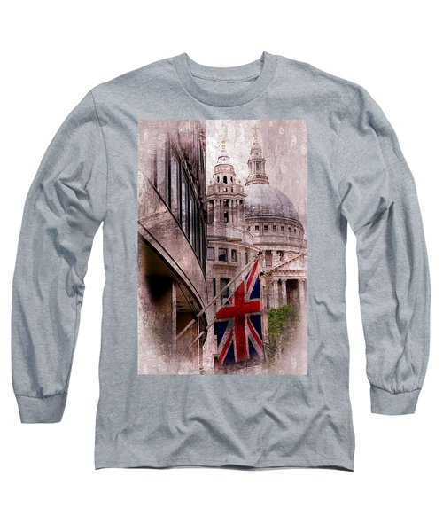 Union Jack By St. Paul's Cathdedral Long Sleeve T-Shirt by Karen McKenzie McAdoo