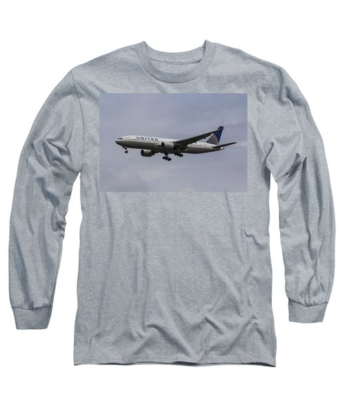 United Airlines Boeing 777 Long Sleeve T-Shirt