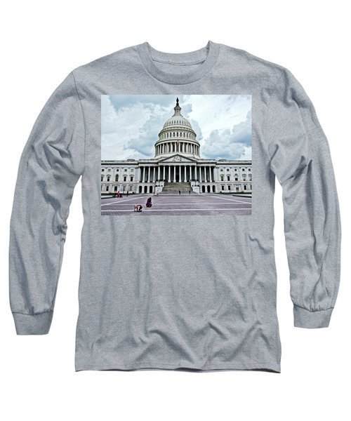 Long Sleeve T-Shirt featuring the photograph United States Capitol by Suzanne Stout