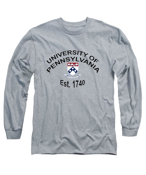 University Of Pennsylvania Est 1740 Long Sleeve T-Shirt by Movie Poster Prints