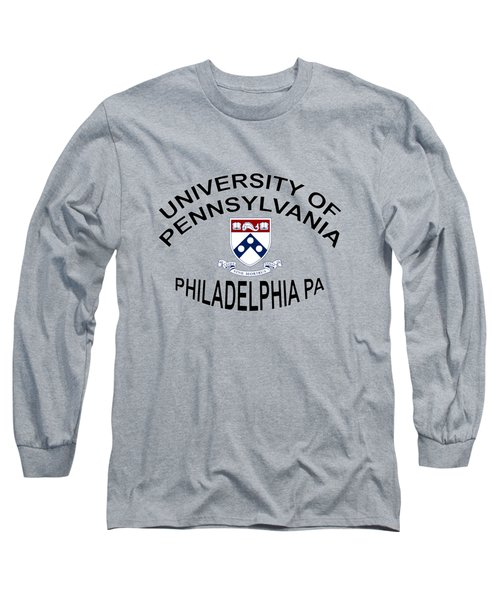 Long Sleeve T-Shirt featuring the digital art University Of Pennsylvania Philadelphia P A by Movie Poster Prints