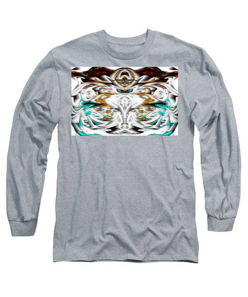 Long Sleeve T-Shirt featuring the digital art Untitled Series 992.042212 by Kris Haas