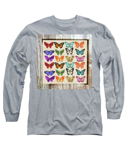 Colourful Butterflies Collage Long Sleeve T-Shirt