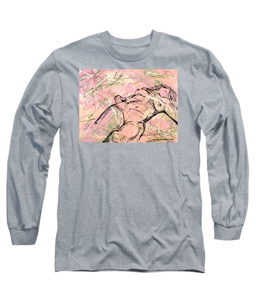 Unwinding Woman  Long Sleeve T-Shirt