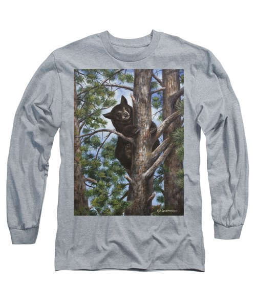 Long Sleeve T-Shirt featuring the painting Up A Tree by Kim Lockman