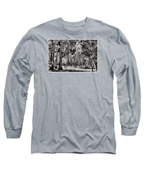 Long Sleeve T-Shirt featuring the digital art Up Among The Aspens by William Fields