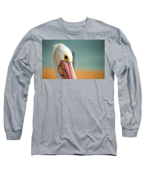 Up Close And Personal With My Pelican Friend Long Sleeve T-Shirt