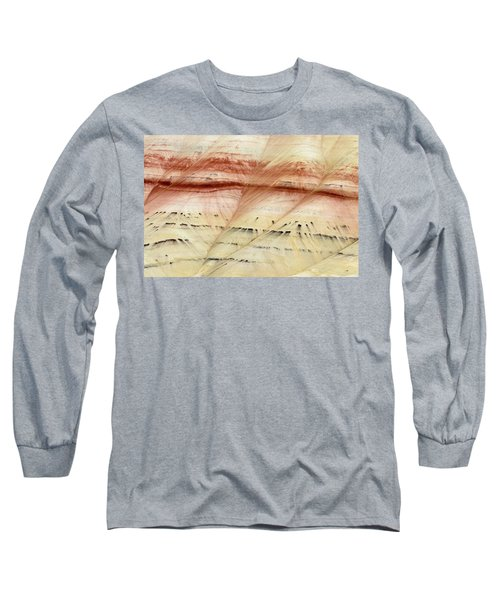 Up Close Painted Hills Long Sleeve T-Shirt by Greg Nyquist