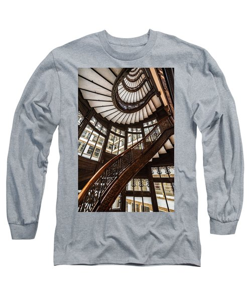 Up The Iconic Rookery Building Staircase Long Sleeve T-Shirt