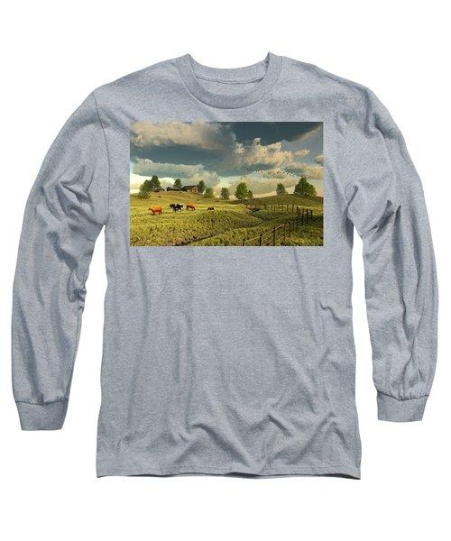 Upon The Rural Seas Long Sleeve T-Shirt