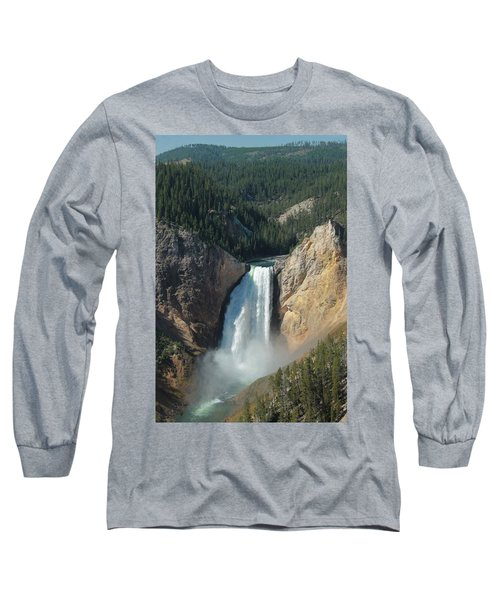 Upper Falls, Yellowstone River Long Sleeve T-Shirt
