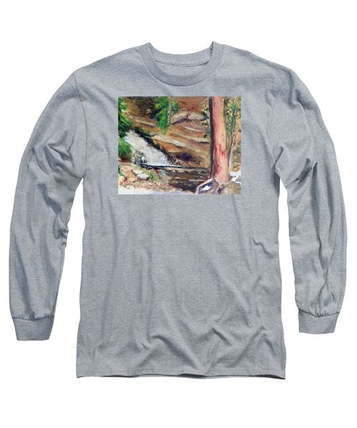 Upper Provo River Falls Long Sleeve T-Shirt by Sherril Porter