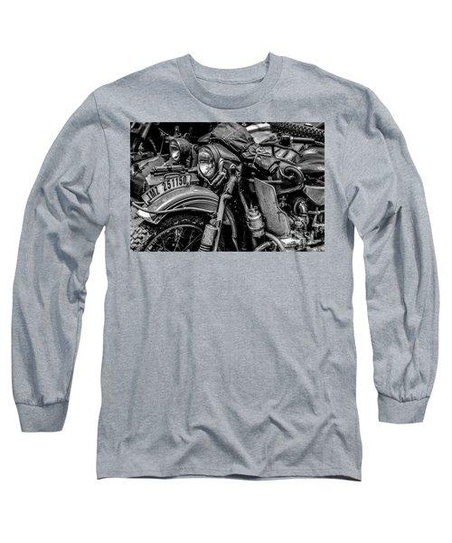 Ural Patrol Bike Long Sleeve T-Shirt by Anthony Citro