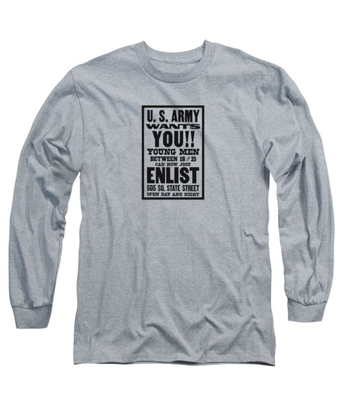 Us Army Wants You - Ww1 Long Sleeve T-Shirt