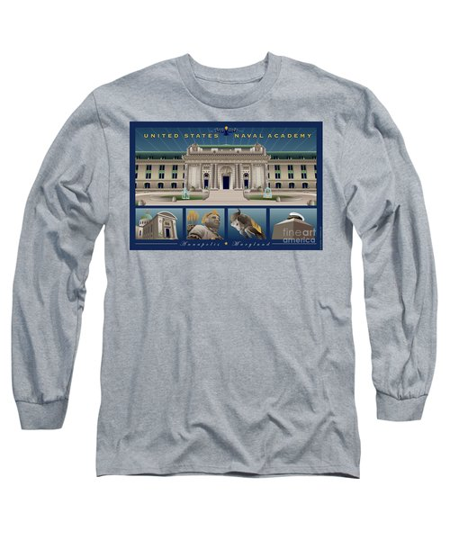 Usna Monuments Tribute 2 Long Sleeve T-Shirt