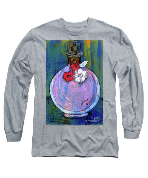 Long Sleeve T-Shirt featuring the painting Valentina by P J Lewis