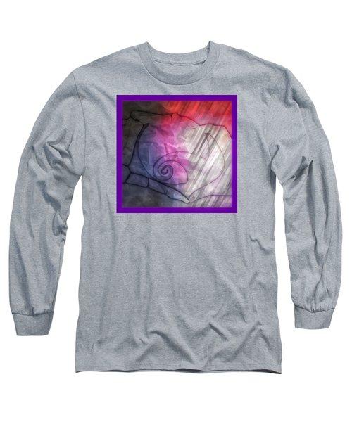 Long Sleeve T-Shirt featuring the digital art Valentines Jack And Sally by Amanda Eberly-Kudamik