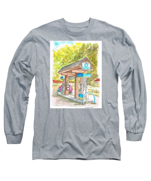 Valero Gas Station In Big Sur, California Long Sleeve T-Shirt by Carlos G Groppa