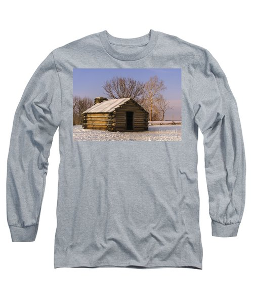 Valley Forge Cabin At Sunset Long Sleeve T-Shirt