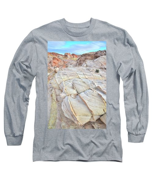 Valley Of Fire Sandstone Long Sleeve T-Shirt by Ray Mathis