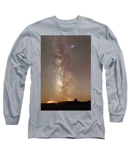 Valley Of The Gods Milky Way Long Sleeve T-Shirt