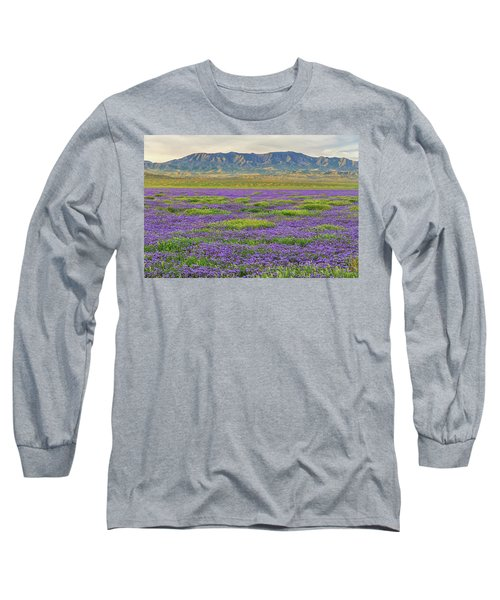 Valley Phacelia And Caliente Range Long Sleeve T-Shirt by Marc Crumpler