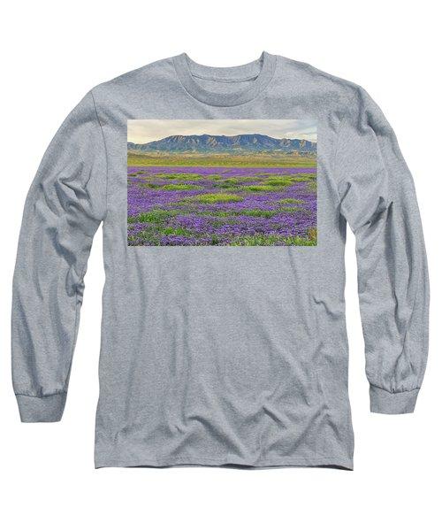 Valley Phacelia And Caliente Range Long Sleeve T-Shirt