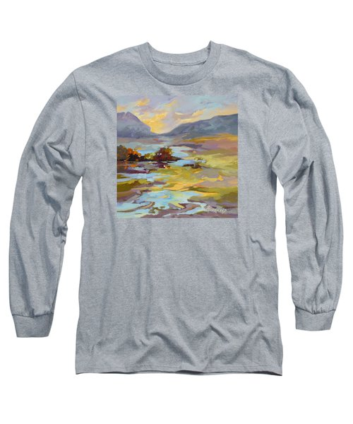 Long Sleeve T-Shirt featuring the painting Valley Vantage Point by Rae Andrews
