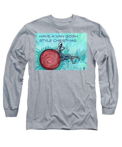 Van Gogh Style Xmas  Long Sleeve T-Shirt by Gallery Messina