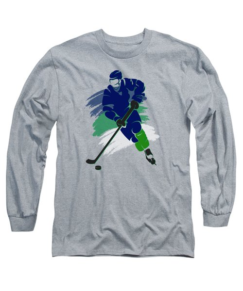Vancouver Canucks Player Shirt Long Sleeve T-Shirt by Joe Hamilton