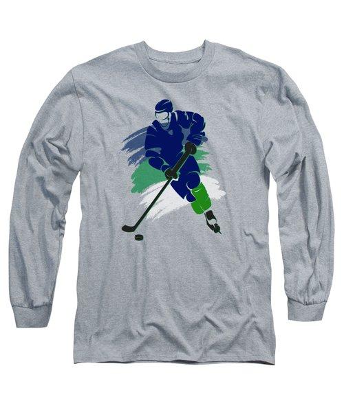 Vancouver Canucks Player Shirt Long Sleeve T-Shirt by Joe Hamilton