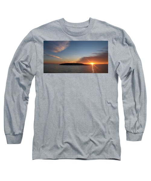 Long Sleeve T-Shirt featuring the photograph Variations Of Sunsets At Gulf Of Bothnia 3 by Jouko Lehto