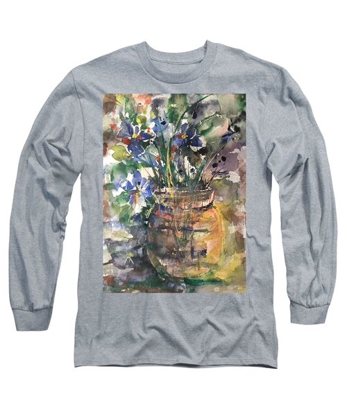 Vase Of Many Colors Long Sleeve T-Shirt by Robin Miller-Bookhout