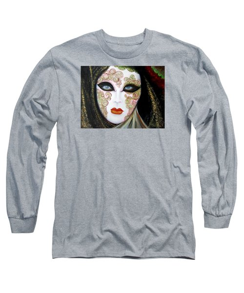 Venetian Mask In Black 2015 Long Sleeve T-Shirt