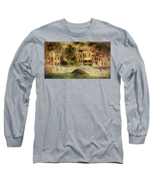 Long Sleeve T-Shirt featuring the digital art Venice City Of Bridges by Lois Bryan