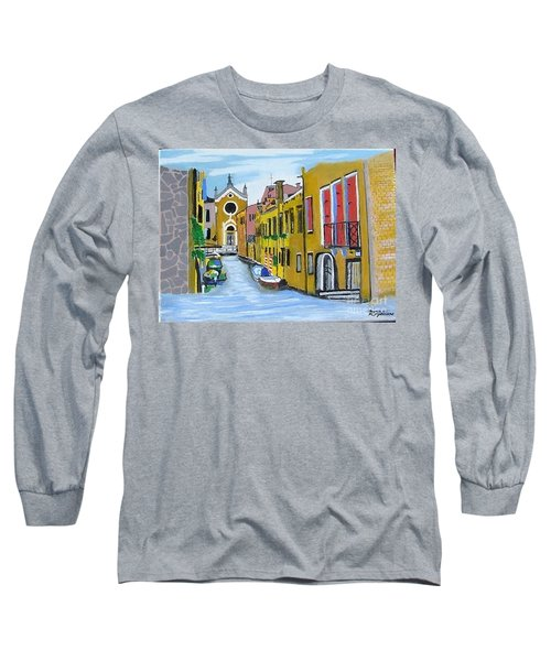 Long Sleeve T-Shirt featuring the painting Venice In September by Rod Jellison