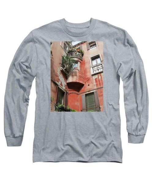 Venice Italy Street Long Sleeve T-Shirt by Lisa Boyd