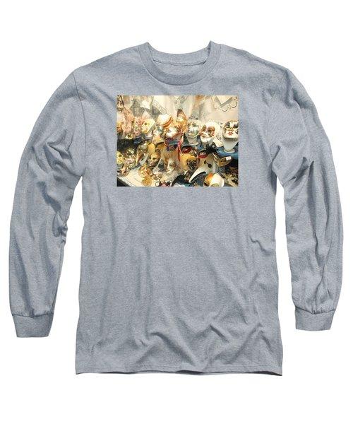 Venice Masks Long Sleeve T-Shirt by Lisa Boyd