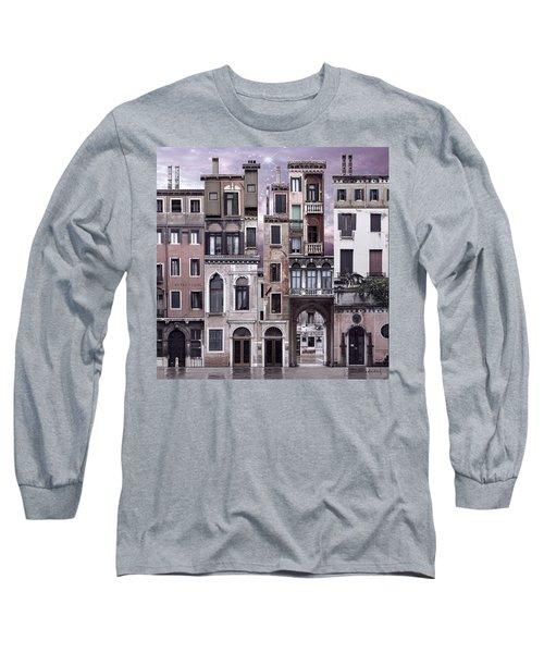 Venice Reconstruction 1 Long Sleeve T-Shirt by Joan Ladendorf