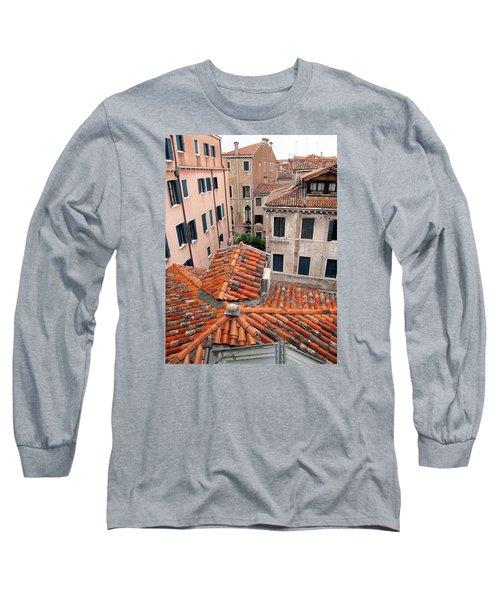 Venice Roof Tiles Long Sleeve T-Shirt by Lisa Boyd