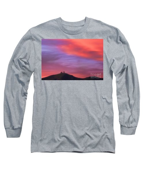 Ventura Ca Two Trees At Sunset Long Sleeve T-Shirt