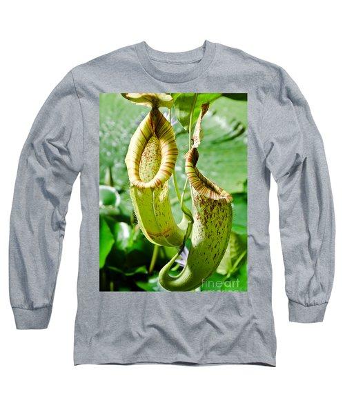 Venus Fly Catcher Long Sleeve T-Shirt by Yurix Sardinelly