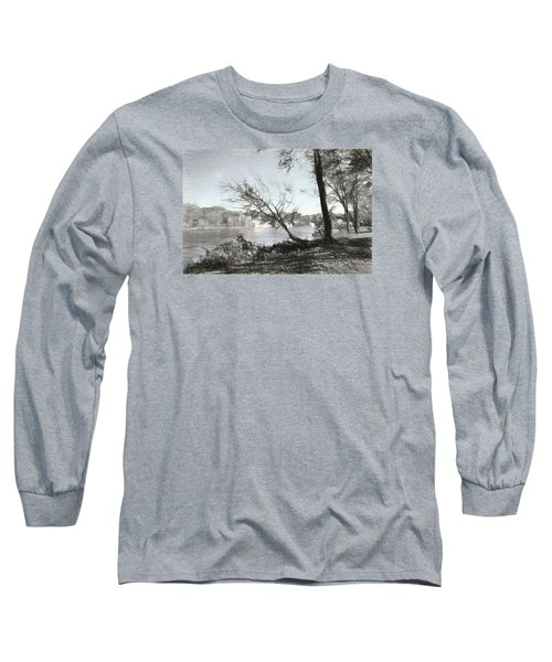 Vergennes Falls Digital Charcoal Long Sleeve T-Shirt