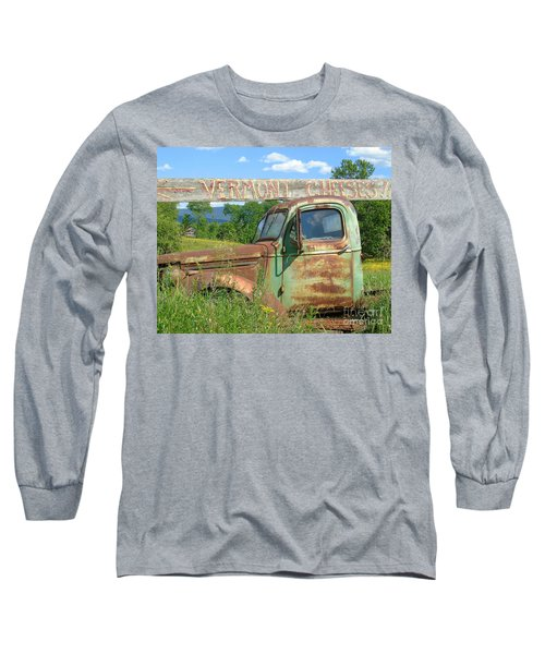 Vermont Cheese Long Sleeve T-Shirt by Susan Lafleur