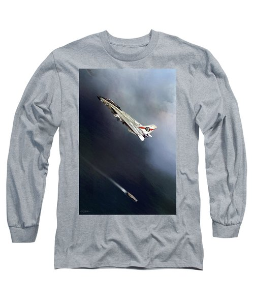 Vf-41 Black Aces Long Sleeve T-Shirt by Peter Chilelli