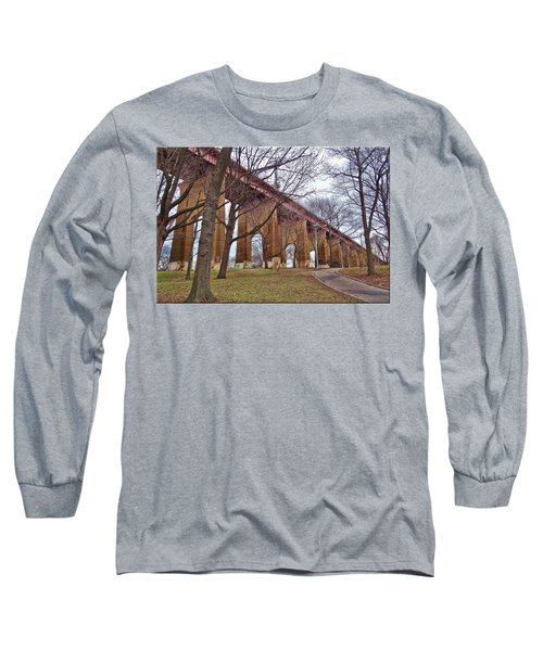 Viaduct Long Sleeve T-Shirt by Mikki Cucuzzo